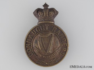 A Victorian Connaught Rangers Cap Badge