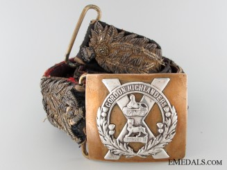 A Victorian Gordon Highlander's Officer's Belt