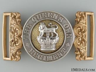 A Victorian Queen's Own Regiment Officer's Buckle