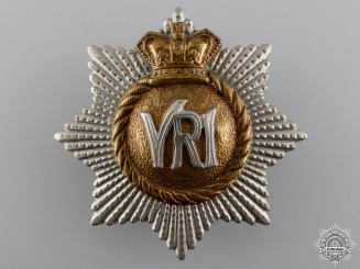 A Victorian Royal Canadian Regiment Officer's Cap Badge  Consignment 14