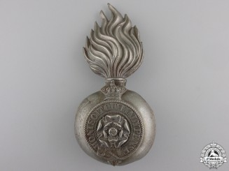 A Victorian Royal Fusiliers Grenade Badge