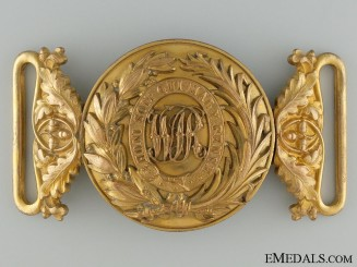 A Victorian West India Regiment Officer's Buckle