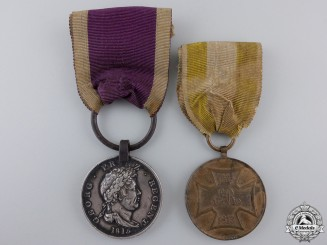 Germany, Imperial. A Waterloo Medal Pair, Bremen Regiment
