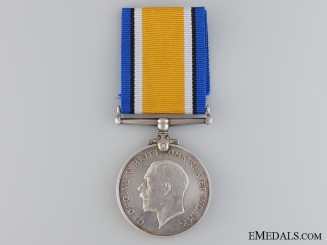 A WWI British War Medal to the 2nd Canadian Infantry; KIA
