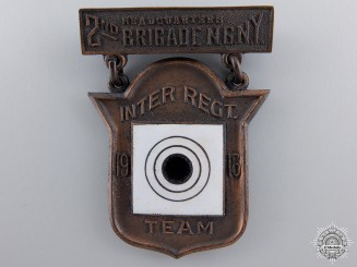 A WWI Headquarters 2nd Brigade NY State Marksmanship Badge