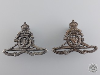 McGill University Overseas Siege Artillery Draft Officer's Collars