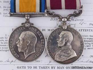 A WWI Meritorious Service Pair to the 70th Canadian Infantry