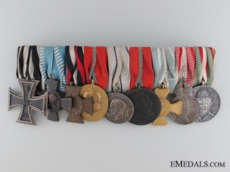 A WWI Period Bavarian Nine Piece Medal Bar