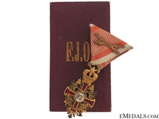 A WWI Period Order of Franz Joseph - Knight's Cross