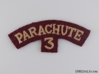A WWII 3rd Parachute Battalion Shoulder Flash