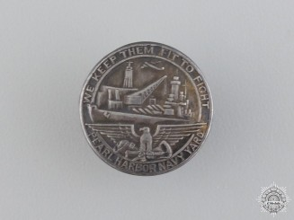A WWII Pearl Harbor Navy Yard Dock Worker's Badge