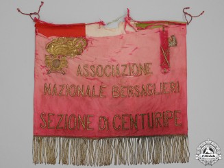 A WWII Town of Centuripe Bersaglieri National Association Banner
