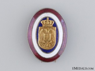 A Yugoslavian Kingdom Police Officer's Cap Badge