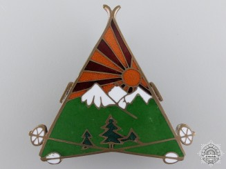 A Yugoslavian Mountain Units Badge 1932 by Knaus, Zagreb