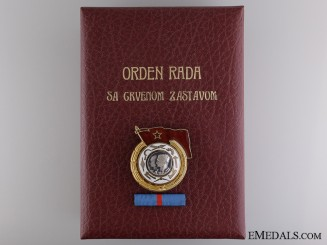 A Yugoslavian Order of the Work with Red Banner; 1st Class with Document