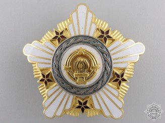 A Yugoslavian Order of the Republic; Second Class