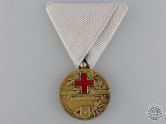 A Yugoslavian Red Cross Medal; First Class