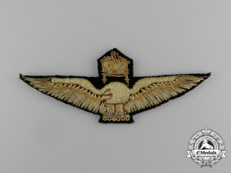 A Hungarian Air Force Officer Pilot Qualification Badge