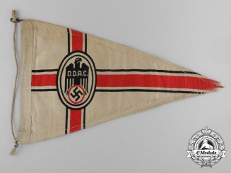 "A D.D.A.C. German Automobile Club Vehicle Pennant ""Fahrzeugs Dienstwimpel"""