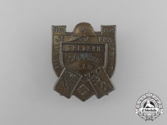"A 1935 Gelden 50th Anniversary ""Day of the Volunteer Firefighters"" Badge"