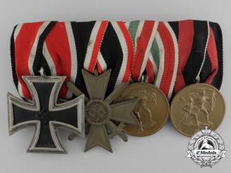 A Second War German Medal Bar of Four