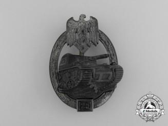 A Tank Badge Grade III (25); Silver Grade by Josef Feix & Sohn
