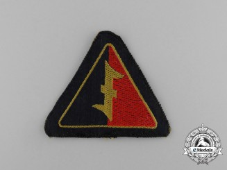 Netherlands, German Occupation. A National Socialist Movement in the Netherlands Black Shirts Sleeve Patch