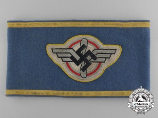 A DLV German Air Sports Association Leader's Armband; RZM Tagged