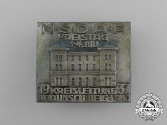 A 1937 NSDAP Braunschweig District Council Day Badge