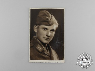 A Wartime Romanian Photo of a Luftwaffe Lance Corporal