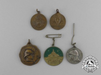 Five Italian Medals & Awards