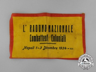 An Italian 1st National Meeting of Colonial Combatants at Napoli Armband 1934