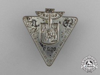 "A 1934 NS-Hago ""The deed of the community aids the reconstruction"" Badge"