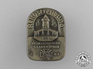 A 1935 Reichstreubund Saarbrücken Homecoming Celebration Badge