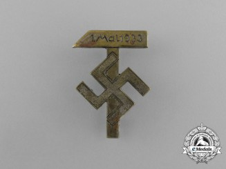 A 1933 German Day of Labour Badge