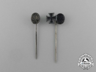 A Lot of Two Second War German Miniature Stick Pin Groupings