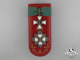 A Hungarian Order of Merit; Commander's Set with Case