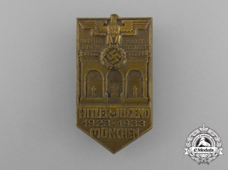 """A 1923-1933 Munich HJ """"You Were Victorious"""" Badge by H. Wittmann"""