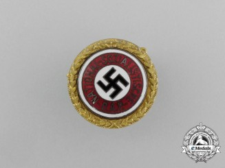 A Very Early 1925 NSDAP Golden Party Badge to District Leader Franz Danninger