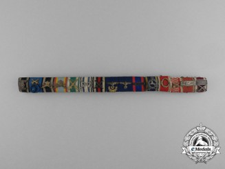 An Extensive and Impressive German Imperial Long Service Ribbon Bar