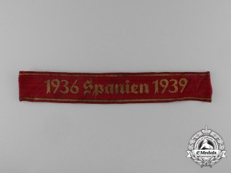 A Rare German Heer Spanish Civil War Campaign Cuffband 1936-1939