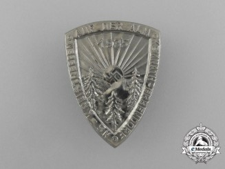 """A 1935 Kemnath """"On the Alps"""" Regional Meeting Badge"""