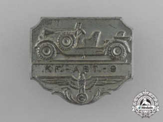 A Third Reich Period Motor Vehicle Division 9 Badge