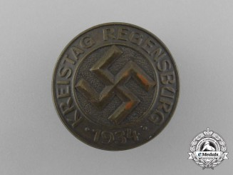 A Regensburg District Council Day Badge by C. Balmberger