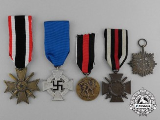 A Grouping of Five Second War German Medals, Awards, and Decorations