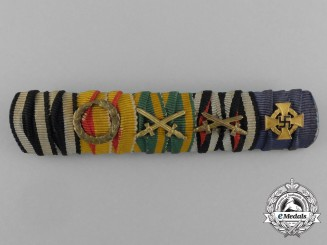 Germany, NSDAP. A 40 Year Faithful Service Decoration Ribbon Bar