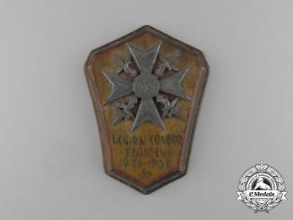 A 1936/39 Condor Legion Spanish Cross with Swords POW Made Plaque