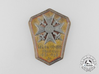A 1936/39 Condor Legion Spanish Cross with Swords POW Made Plaque