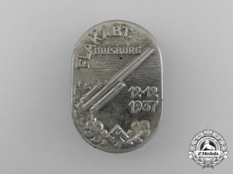 A 1937 Flak Division Duisburg Badge