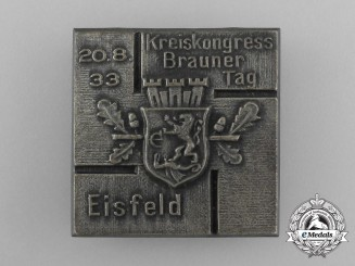 A 1933 Eisfeld Regional Congress Day Badge